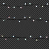 Color Garlands decorations. Led neon lamp Vector