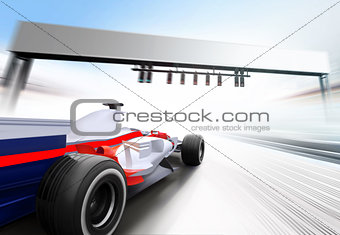 3D illustration of formula one car
