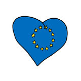 European Union heart, symbol of a United Europe