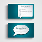 Business card with design speak bubble template