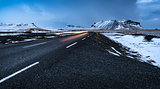 Road landscape in Iceland