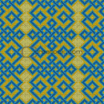 Knitted Seamless Ornate Pattern