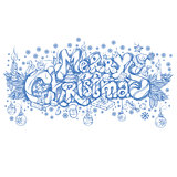 Merry Christmas. Beautiful hand drawn inscription
