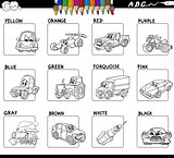 basic colors activity worksheet for coloring