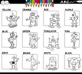 basic colors set worksheet for coloring