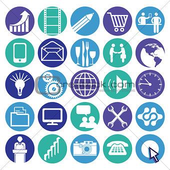 Business Icon Button, Vector