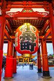 Kaminarimon gate and Lantern, Senso-ji temple, Tokyo, Japan