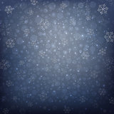 Snowflakes of Winter Christmas in dark blue background, illustration vector