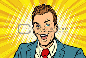 Smiling businessman business people