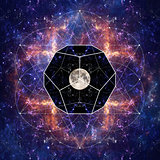Photo of the Moon and Sacred Geometry