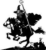 Wizard Riding a Horse