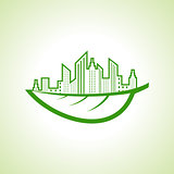 Save Nature and ecology concept with eco cityescape
