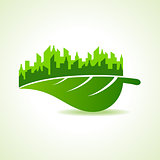Save Nature and ecology concept with eco cityscape