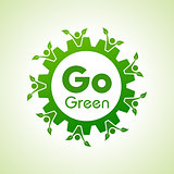 Save Nature and go green concept with eco gear