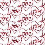 Vector Seamless Pattern with Love Lettering
