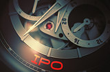 IPO on the Luxury Men Watch Mechanism. 3D.