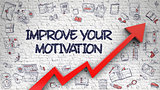 Improve Your Motivation Drawn on White Brickwall.