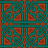 Orient Ornate Knitted Seamless Pattern