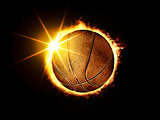 basketball ball like solar eclipse