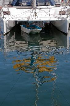 Catamaran and Dinghy