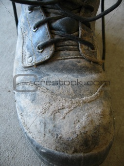 Old dirty boot