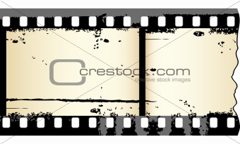 Old grungy film strip
