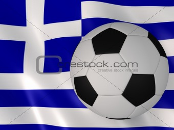 greece banner and football