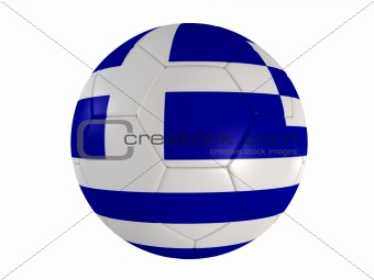 greek flag on a football