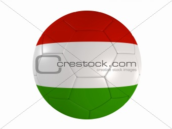 italian flag on a football