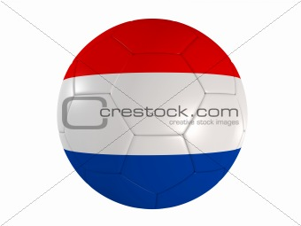 dutch flag on a football