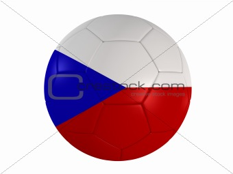 czech flag on a football