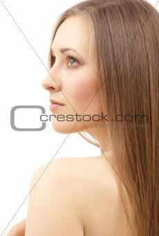 beautiful woman with long hair