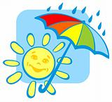 sun with umbrella