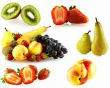 various of fresh jiucy fruits