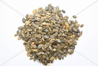 A heap of pumpkin seeds