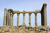 Columns of Roman temple .
