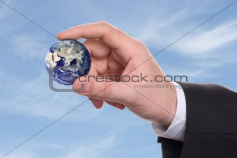 small earth in a hand 3
