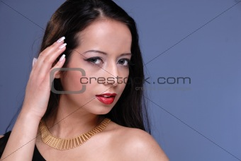 attractive young lady in necklace