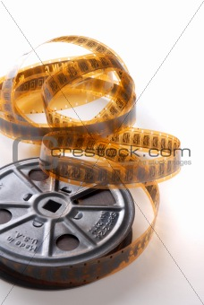 vintage movie reel and film