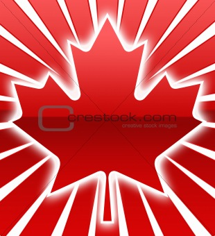 A Maple Leaf Image with white glow