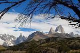 Mountains Fitz Roy and Cerro Torre from El Chalten.