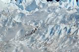 Trekking  on a glacier