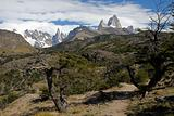 Mountains  Cerro Torre and Fitz Roy.
