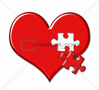 Heart with Puzzle Piece Missing