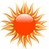 Red hot summer sun
