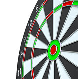 Dart board, isolated