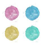 Watercolor painted circle