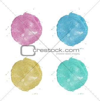 Watercolor painted circle
