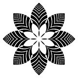 Decorative design element. Floral pattern.