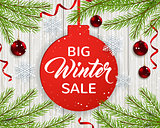 Seasonal winter sale.
